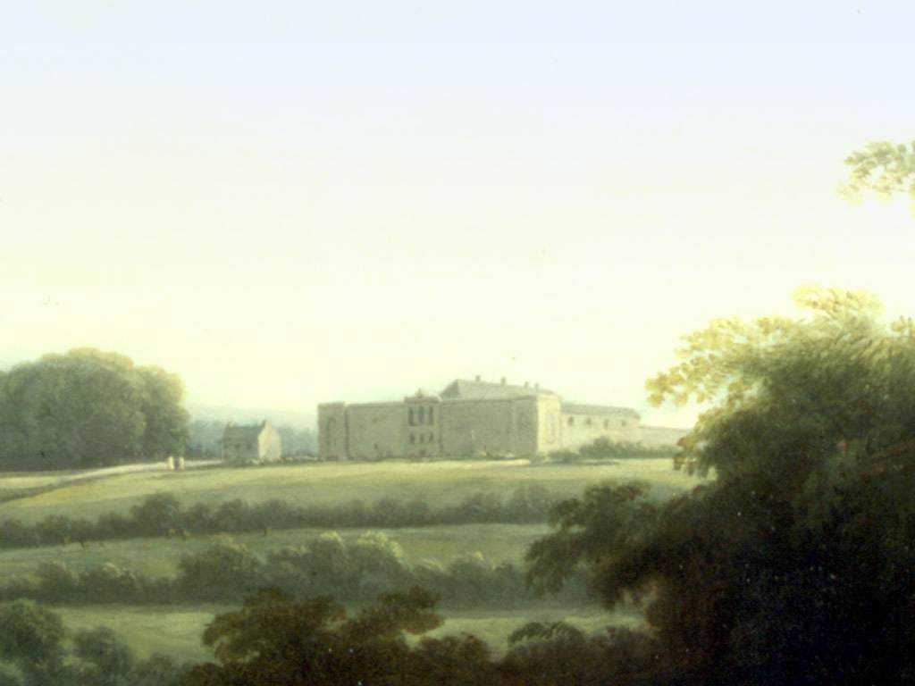 William Ashford, 'A View of Dublin from Chapelizod', 1795-1798 (detail), oil on canvas. National Gallery of Ireland.